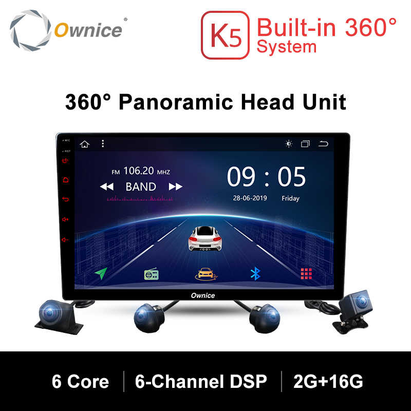 Ownice K5 2 Din Universele Android 360 Panoramisch naadloze 4-CH DVR AHD Camera Auto radio DVD GPS Navigatie Head Unit met DSP