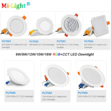 Milight 6W/9W/12W/15W/18W RGB+CCT LED Downlight AC110V 220V Dimmable LED Ceiling Spotlight FUT062/FUT063/FUT066/FUT068/FUT069 milight ac110v 220v 4w led bulb dimmable mr16 gu10 rgb cct spotlight indoor decoration use with 2 4g wireless rf led remote wifi