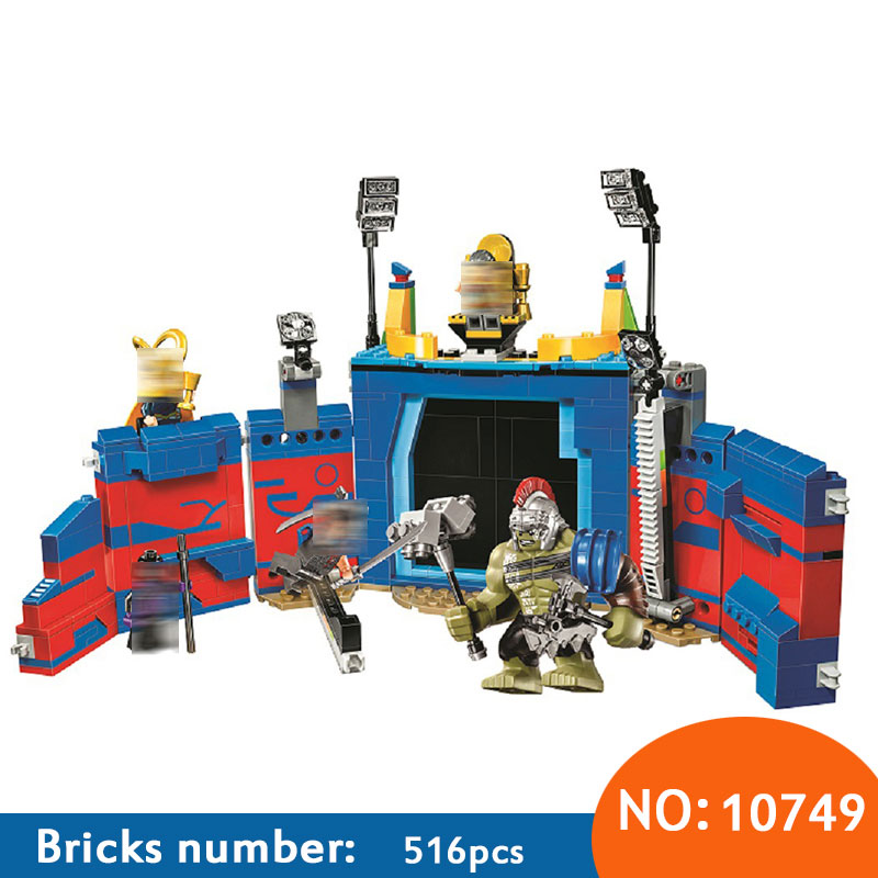10749 Super Heroes Thor Vs. Hulk: Arena Clash building blocks DIY Educational bricks toys for children Compatible with 76088 337pcs 10745 super heroes ayesha s revenge building blocks diy educational bricks toys gift for children compatible with 76080
