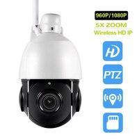 ワイヤレスptzスピードドーム1080 p ipカメラwifi屋外光学5倍ズームhd cctvセキュリティビデオネットワークカメラオーディオトークsdカー