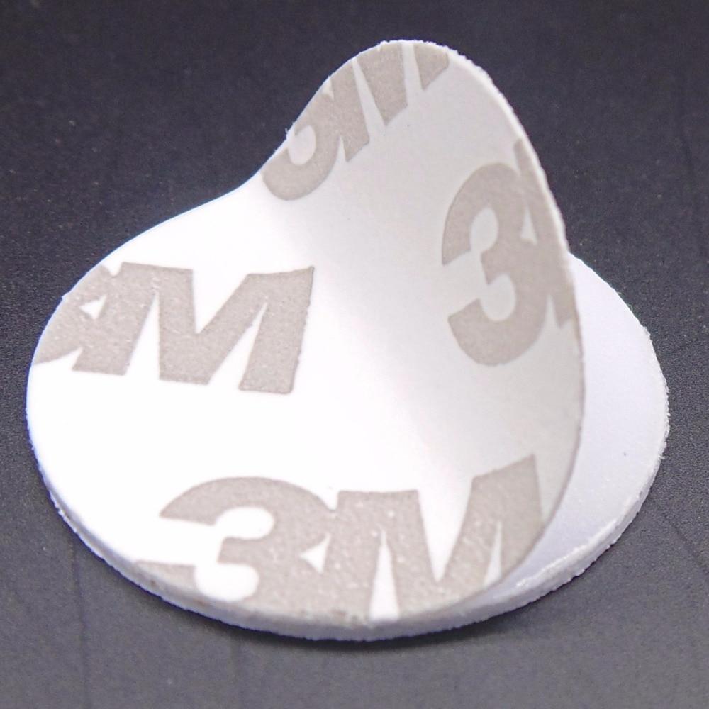 Autocollants RFID 3M, 125khz, 25mm, cartes de contrôle d'accès lecture seule, TK4100(EM4100), 10 pièces/lot
