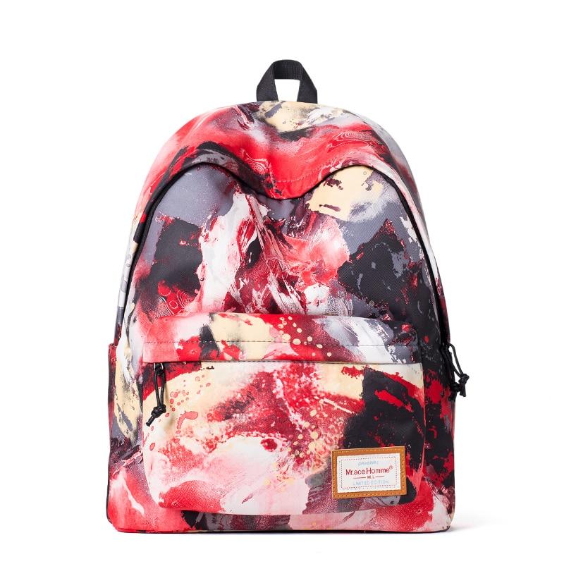 Graffiti Printing School Bags For Teenagers Fashion Brand Women Backpack Waterproof Female Backpacks Back Pack Sac a dos