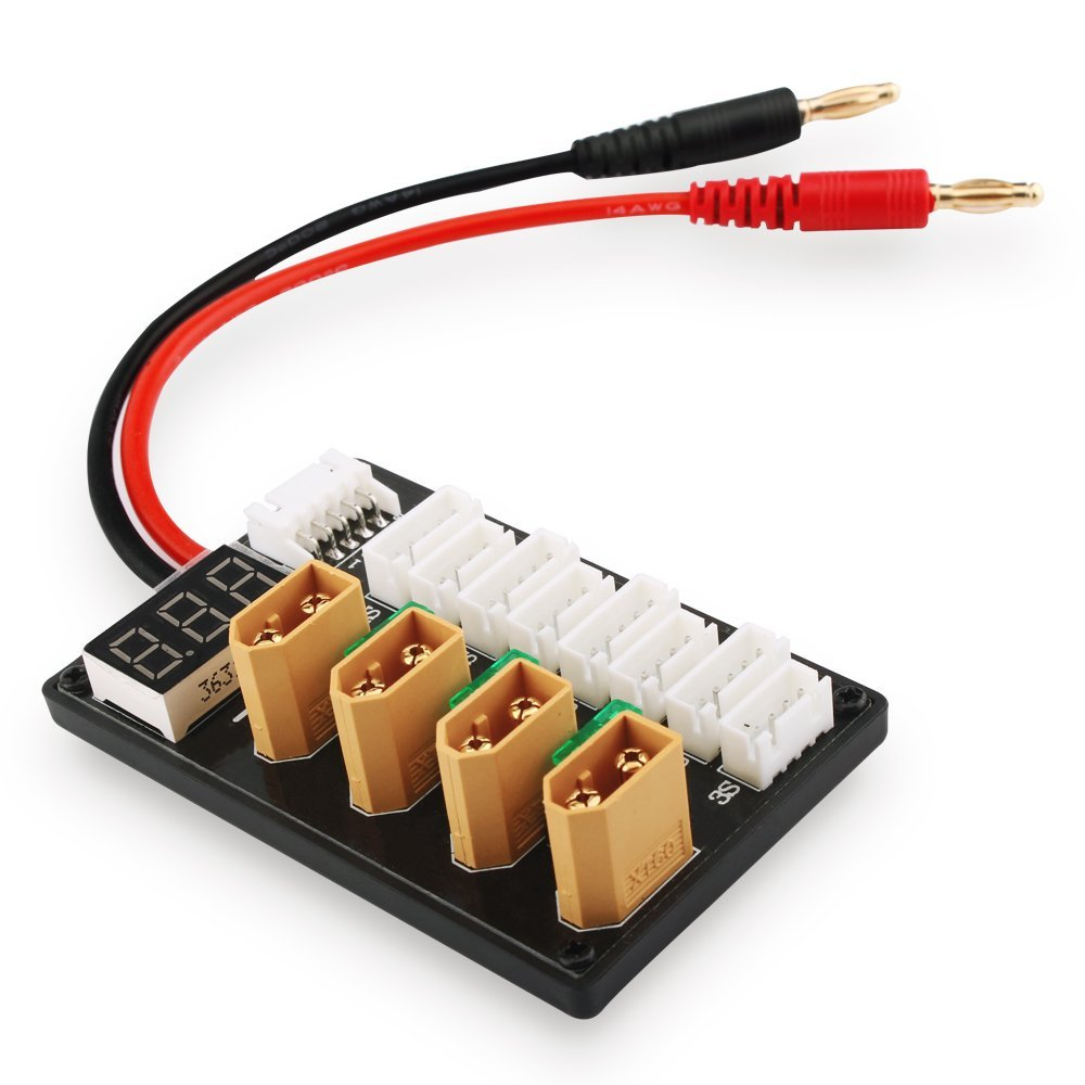 High Quality 3S 4S LiPo Battery Parallel Charging Board Charger Plate T Plug XT60 Plug Banana Connecting Cable