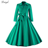 2015 Womens Long Sleeve Winter And Autumn 1950s Vintage Classic Style Rockabilly Pin Up Swing Casual