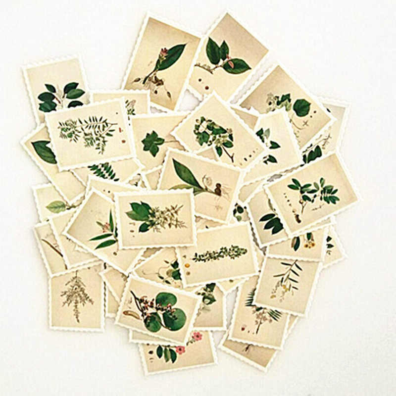Hot Vintage Plants Stamp Mini Paper Sticker Decoration DIY Diary Scrapbooking Seal Sticker Diary Seal Sticker Cute Stationery