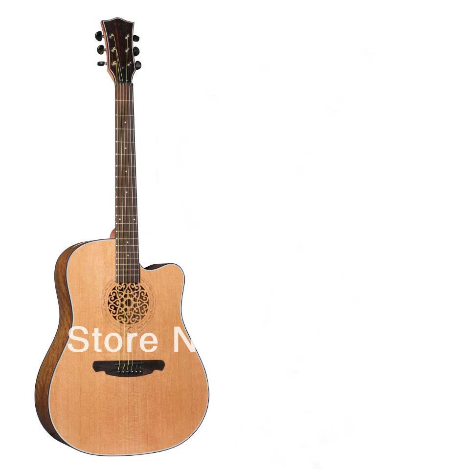flower rosette acoustic guitar 41inch high quality with free accessory latest design guitar салатник attribute rosette 13см 0 5л фарфор
