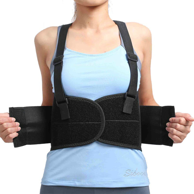 Trabajo Correa de Cinturón de Soporte Lumbar Lumbar ajustable Ampliar Lumbar Apoyo de la Ayuda de Protección Placa de Aceros Cinturones Sport 4 tamaño