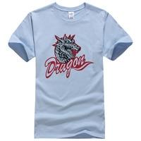 2019 New men's Dragon printed cotton T shirt men short sleeve LII