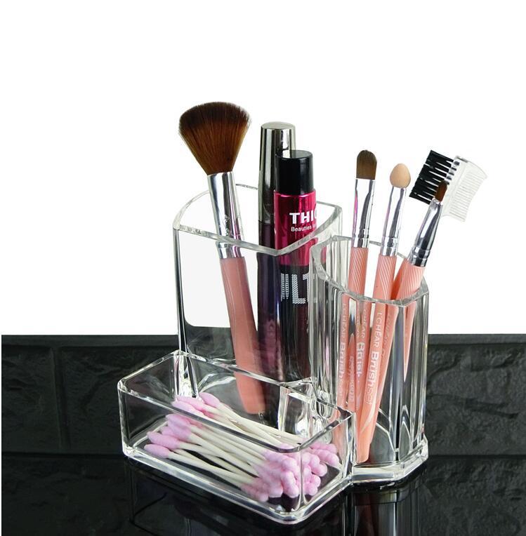 Fashion Transparent Lipstick Storage Rack Cosmetic Storage Box Acrylic Organize Desktop  ...