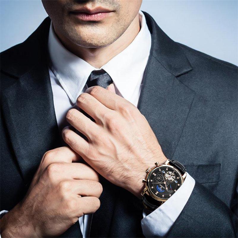 Najlepsze marki zegarków mechanicznych BINSSAW 2018 nowych zegarków - Męskie zegarki - Zdjęcie 4