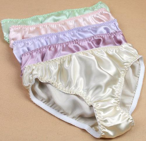 Aliexpress.com : Buy Women Silk Satin Panties Female Respiratory ...