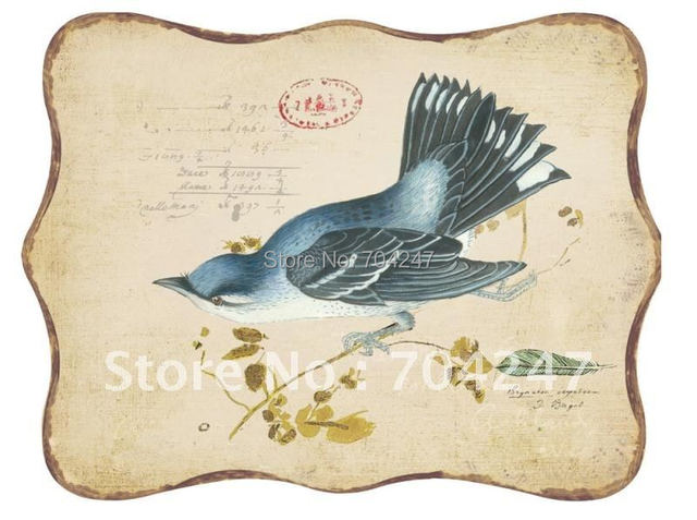 """free shipping  archaistic classic  bar coffee house home decoration""""bird""""314 Iron painting metal sign wall painting"""