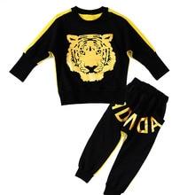 Girls Clothing Sets 3-11Y children suits, Spring Autumn New Kids clothes set Tiger Print Long Sleeve Tshirt & Harem Pants