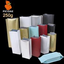 250 G Tea Granule Powder Seasoning Sugar Snack Food Packing Bag Half Pound Heat Up Seal Four Side Stand Aluminum Foil Open Top