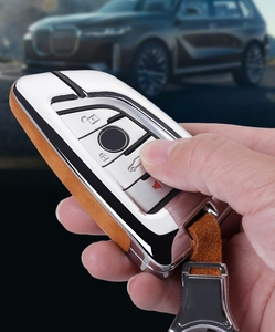 Image 5 - Alta Qualidade Suede Couro Chave Do Carro Titular Capa Para BMW X1 X3 X4 X5 X6 E90 E60 E36 E93 F15 F16 F48 G30 F11 F30 Caso Chave Para Carro