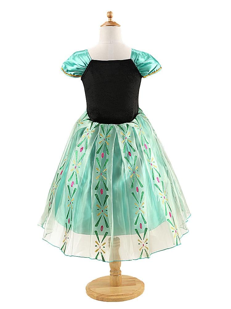 HTB1QI0ve3jN8KJjSZFCq6z3GpXaH Queen Elsa Dresses Elsa Elza Costumes Princess Anna Dress for Girls Party Vestidos Fantasia Kids Girls Clothing Elsa Set