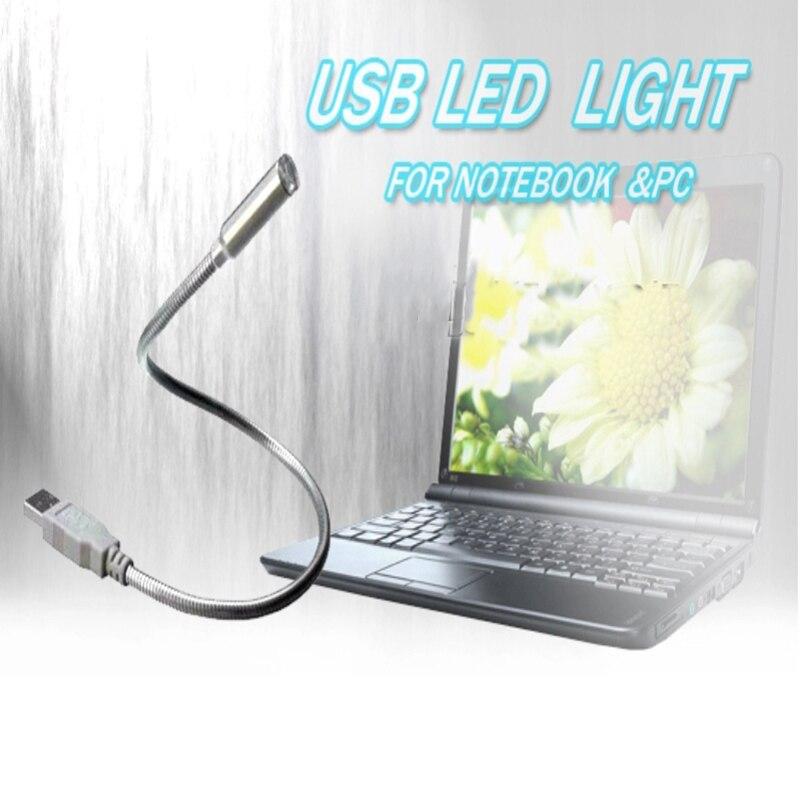 Usb Led ночник настольная лампа настольная книга света Flexib E-Book ноутбук стол Мощность банк Тетрадь светодиоды компьютер PC