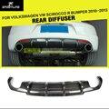 Углеродного Волокна Заднего Бампера для Губ Диффузор Для Volkswagen VW Scirocco R бампер 2010-2013