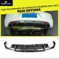 Carbon Fiber Car Rear Bumper Lip Diffuser For Volkswagen VW Scirocco R bumper 2010-2013