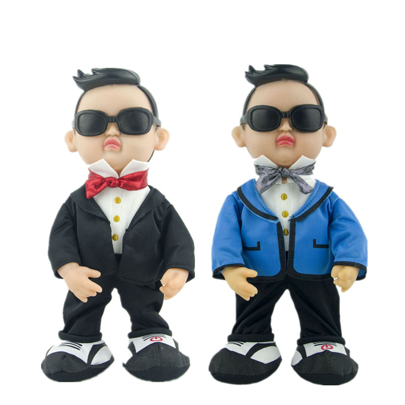 US $21 17 21% OFF Electric plush toys for children Plush doll simulation  Gangnam Style PSY creative funny toy Dancing singing dolls birthday gift-in