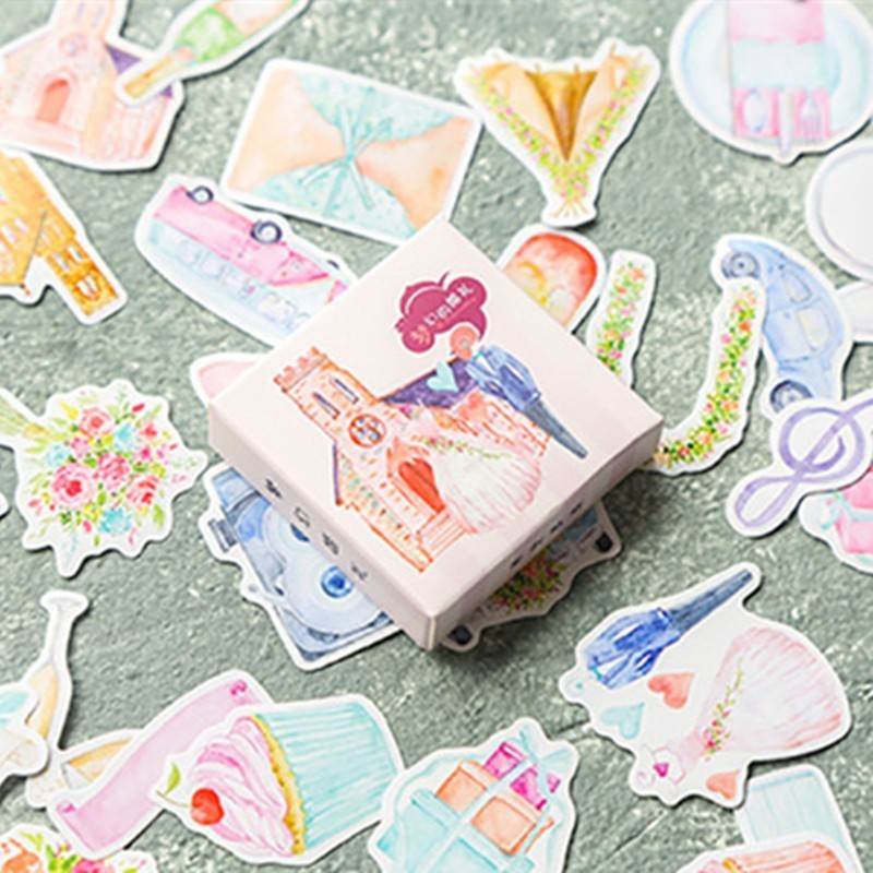 Creative Cartoon DIY Decoration Paper Stickers Cute Photo Hand Account Scrapbooking Sticker Kawaii Art Stationary Supplies 06535