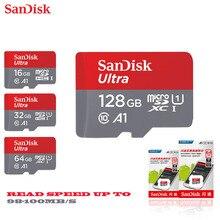 Двойной Флеш-накопитель SanDisk micro sd 128 Гб 64 ГБ 32 ГБ оперативной памяти, 16 Гб встроенной памяти, 98 МБ/с. TF usb флэш-карта памяти, мicro sd 8 ГБ/48 МБ/с. class10 продукт