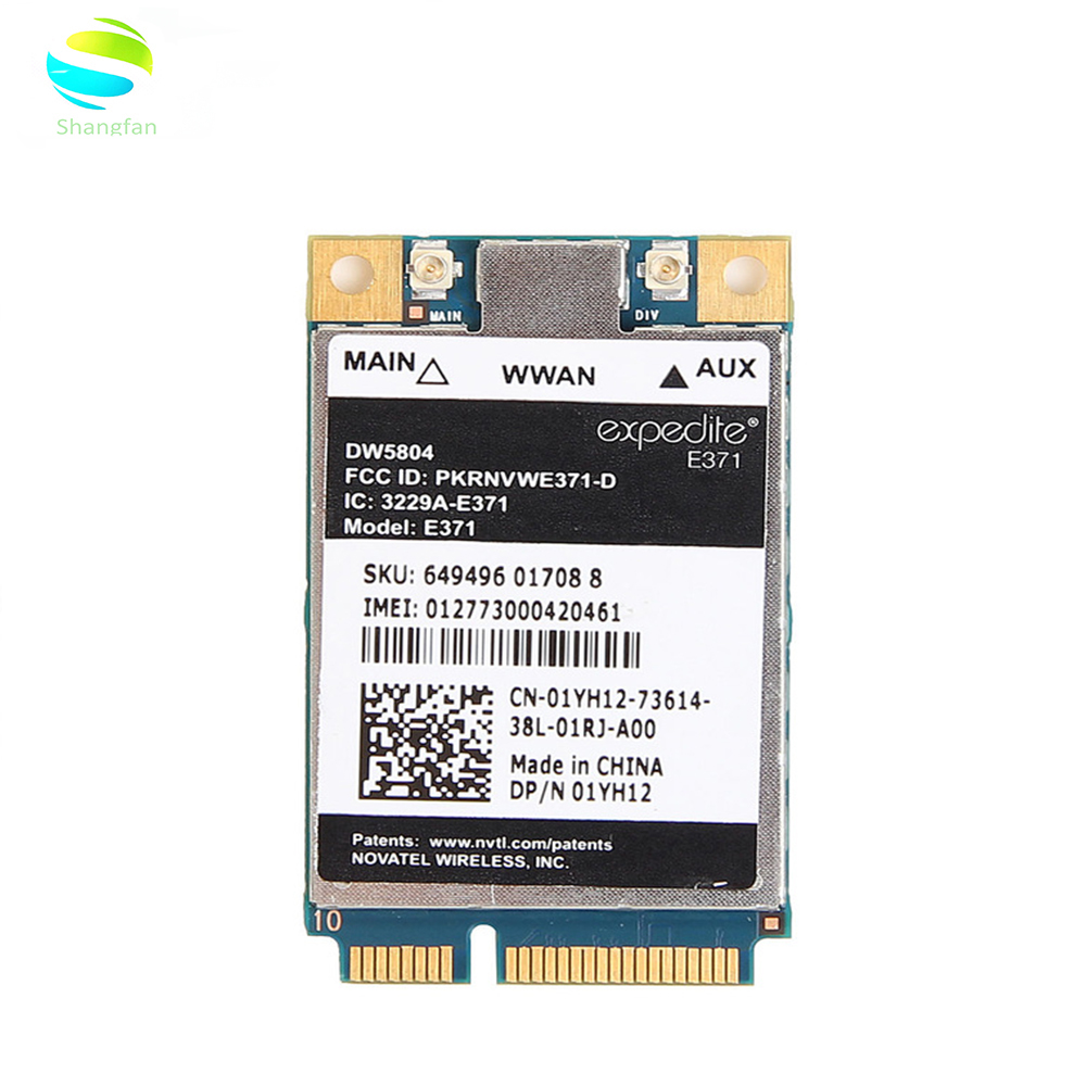 Wifi-Card WCDMA-MODULE PCI-E Mobile-Broadband DW5804 E371 Dell LTE/WWAN 3G/4G Unlocked title=