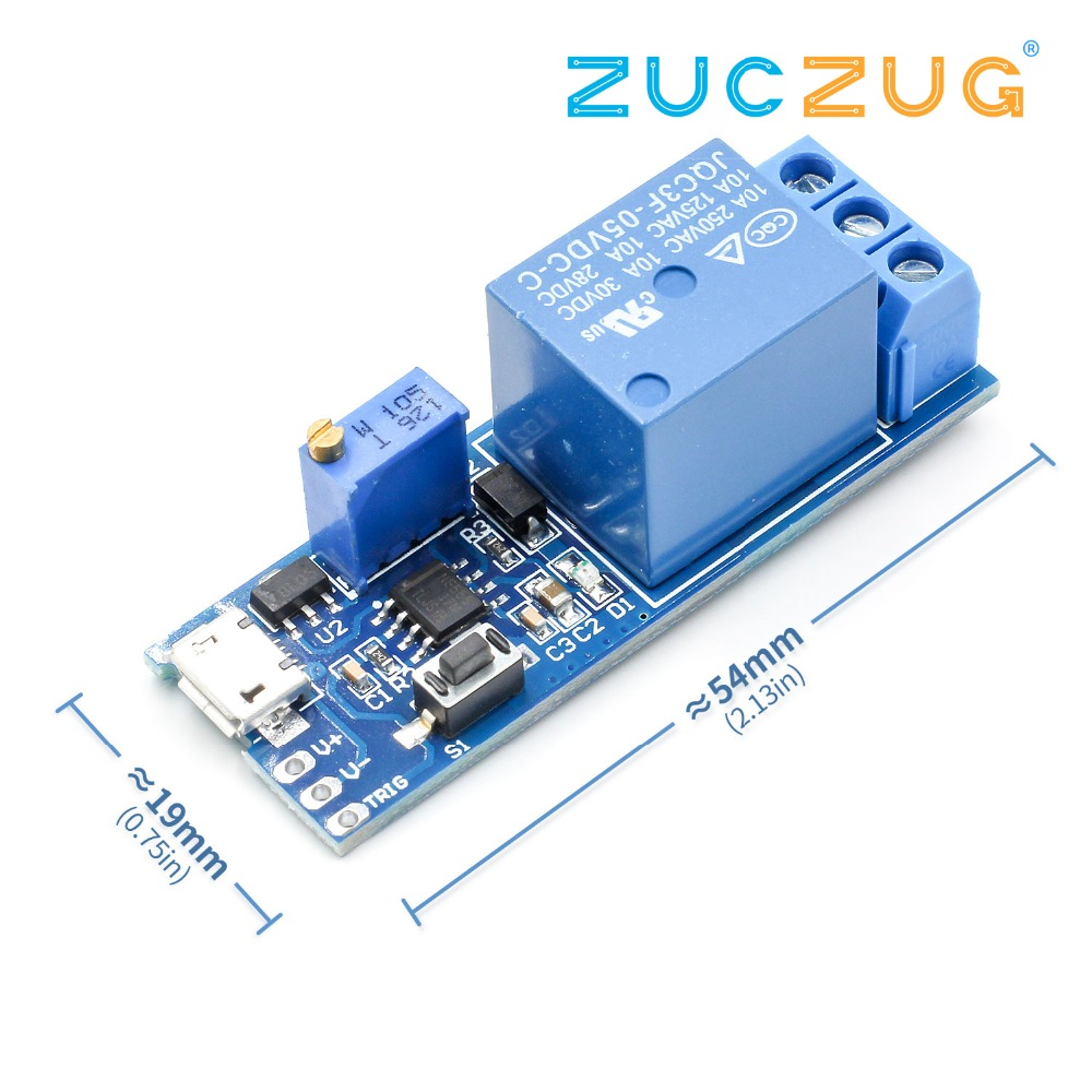 Trigger Delay Timer Relay Conduction Relay Module Time Delay Switch Wide Voltage 5V-30V