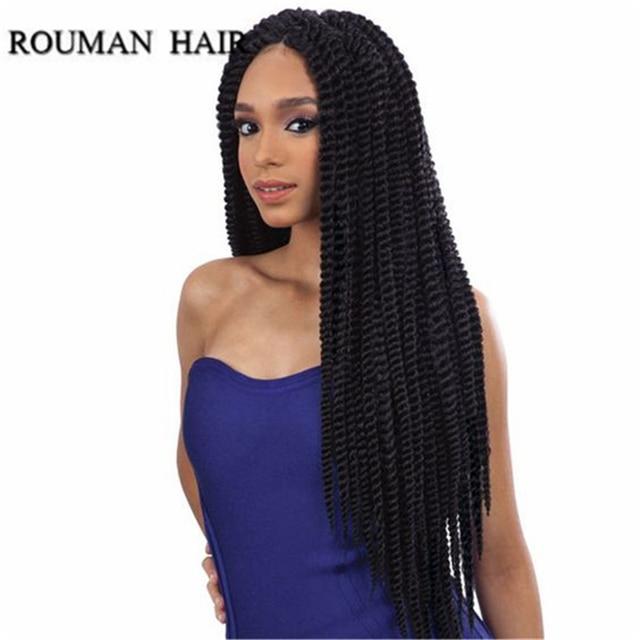 Large Stock Rouman Hair Brand 18 Synthetic Braiding Extensions Havana Mambo Twist Kanekalon