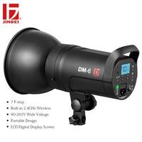 JINBEI DM 6 600Ws Portable Studio Flash Compact Photography Strobe Light GN80 Lighting Head LED Modeling Lamp 110V 220V Wireless