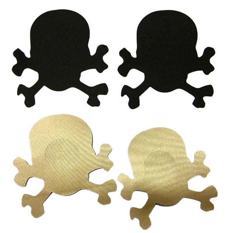 women skull shaped  bra  sexy nipple cover breast petals pads pasties invisible nipple covers nipple sticker bra