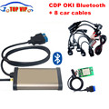 Gold CDP bluetooth+OKI chip (M6636B OKI Chip) 2015 R1 TCS CDP Pro plus+ Full set 8 car cables auto diagnostic tool