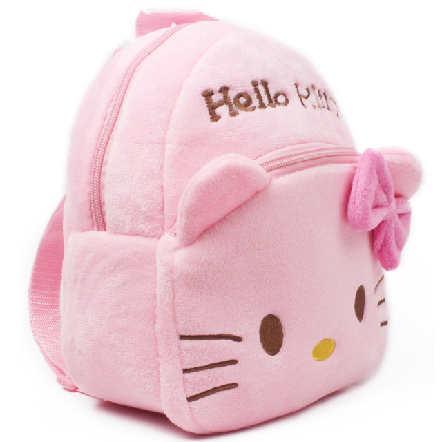 2017 New High Quality Hello Kitty plush school bag Cartoon soft Backpack Girl Toy Schoolbag baby cute mini bags For Kids Gift Kids & Baby Bags