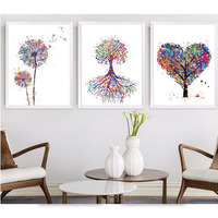 Abstract 3pcs Diamond Embroidery Plant Trees Picture 5D Diy Diamond Painting Cross Stitch Diamond Mosaic Home