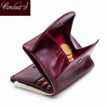 Genuine Leather Women Wallet Fashion Coin Purse For Girls Female Small Portomonee Lady Perse Money Bag Card Holder Mini Clutch - DISCOUNT ITEM  40% OFF All Category