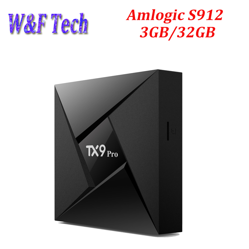 5 pièces 3 GB 32 GB TX9 Pro Amlogic S912 Octa core Android 7.1 Smart TV Box WiFi 2.4 GHz 5.8 GHz Bluetooth 4.1 Smart Android box