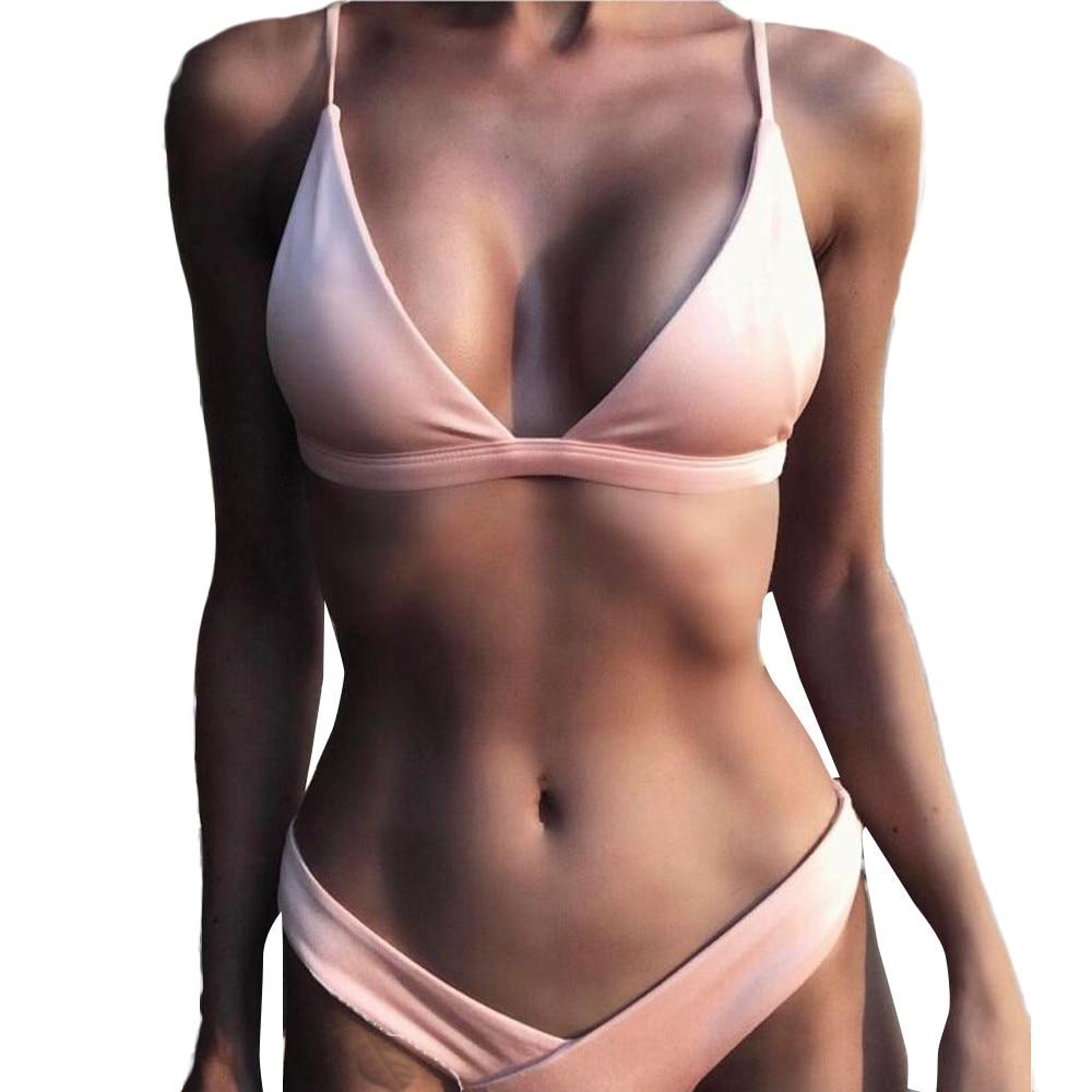 2018 Sexy Women Swimsuit Women Sexy Push-Up Padded Bra Beach Halter Bikini Set Swimsuit Swimwear New Hot Summer