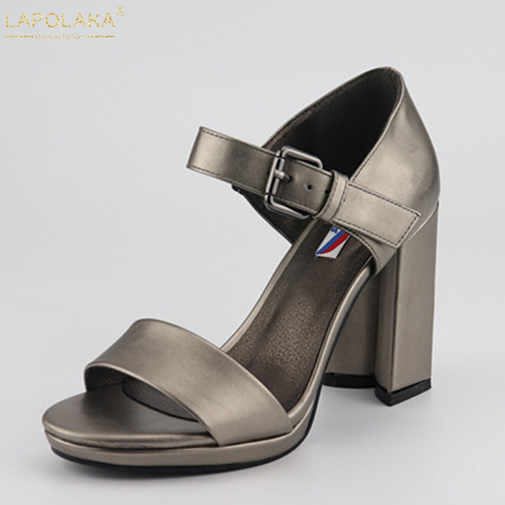LAPOLAKA Brand New Platform Party Office Lady Women Shoes Chunky High Heels Top Quality Shoes Woman SandalsLAPOLAKA Brand New Platform Party Office Lady Women Shoes Chunky High Heels Top Quality Shoes Woman Sandals