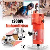 450W/1200W 1/4 50HZ 220V Corded Electric Hand Trimmer Wood Laminator Router Joiners Tools Transparent Base DIY Lift Knob