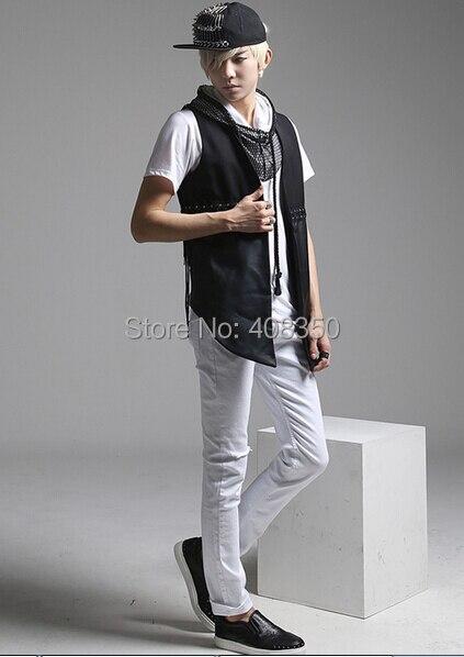 Reticularis Hooded T-shirts Men\'s Black White Brand Short Sleeve Summer Top Tees 2015 Costume Casual Masculina Camiseta Hombre (9).jpg