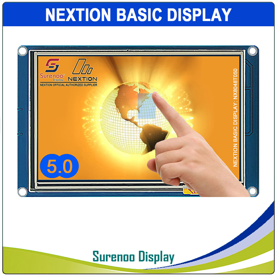5 0 NX8048T050 Nextion Basic HMI Smart USART UART Serial Resistive Touch TFT LCD Module Display
