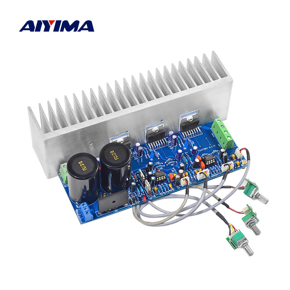 Aiyima TDA7294 Subwoofer Amplifier Papan HI FI 2.1 Channel Power Amplifier Audio Naik MP 80W * 2 + 100W Home Suara Teater DIY