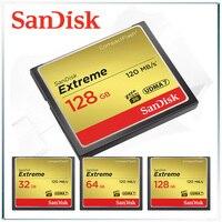 Cartão de memória sandisk  extreme compactflash  128gb  compacto  64gb cf card 32gb gopro carte kary