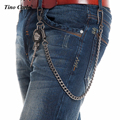 8mm 60CM Long /140g Thick GunMetal Wallet Skull Sword Jeans Key Chain Rock Biker Heavy Jeans Chain Hip Hop Pants Chain KB48