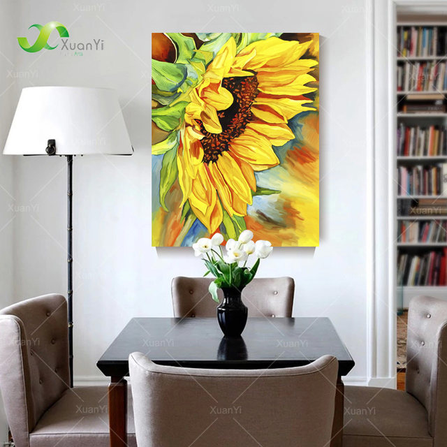 Online Shop 2 Panel Modern Printed Sunflower Oil Painting Picture ...