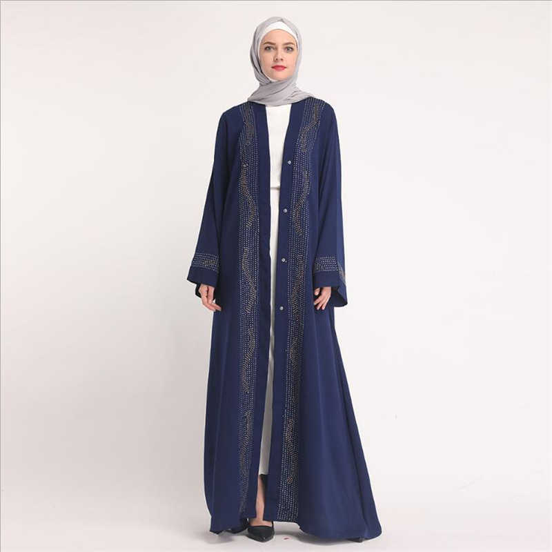New Luxury cardigan abayas muslim women dress 2019 turkish dubai oman arab  fashion islamic ladies long 7eb37188f967
