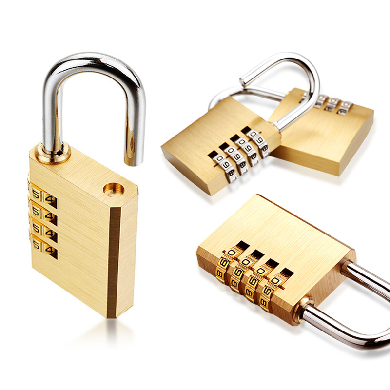 New Lock High Quality Solid Copper Dial Travel Digit Code Password Combination Padlock Security Safe Locks Furniture Accessories