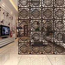 Китайские твердые деревянные перегородки современный минималистский спальня гостиная стеновые панели Модные Простые полые складные подвесные декоративные