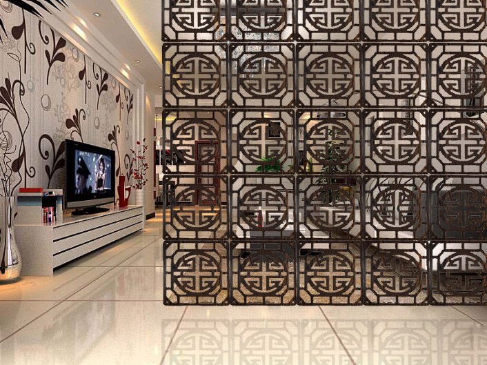 Chinese solid wood Partition modern minimalist bedroom living room wall panels fashion simple hollow folding hanging decorative-in Screens & Room Dividers from Home & Garden    1