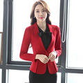 Women's jacket blazers 2017 Spring Cotton blended Single button irregular small Suit Jackets ladies Skinny blazers Coats woman